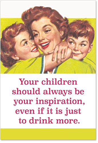 0228 'Drink More' - Funny Mother's Day Greeting Card with 5