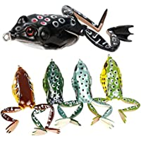 Runcl Topwater Frog Lures, Soft Fishing Lure Kit with...