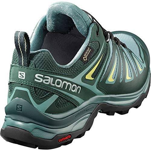 Salomon X Ultra 3 GTX Hiking Boot - Womens, Artic/Darkest Spruce/Sunny Lime, Wide, 6, L40661000-6 by Salomon (Image #5)