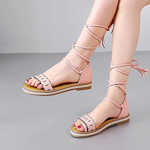 de zapatos sandalias el de Pinkred de código estudiantes Los de verano en tamaño mujer vzwSFfcCq