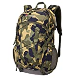 40L Hiking Backpack Lightweight Travel Camping Backpack Internal Frame Backpack for Outdoor Sports Backpacking Climbing Trekking Mountaineering (Camouflage Gray) For Sale