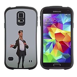 Suave TPU GEL Carcasa Funda Silicona Blando Estuche Caso de protección (para) Samsung Galaxy S5 / CECELL Phone case / / Stock Broker Man Suit Stylish 3D Art Office /