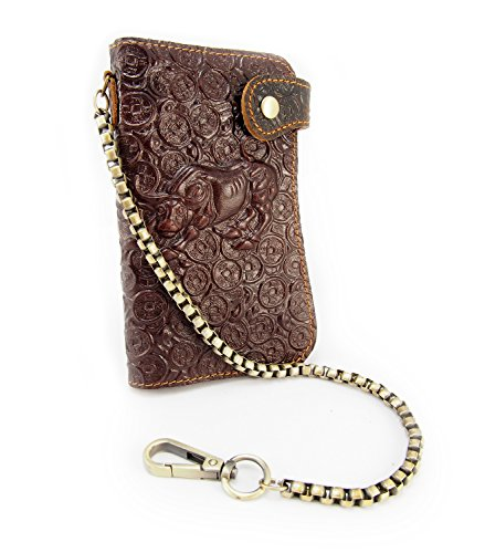 - Leather biker wallet with chain (Brown Buffalo)
