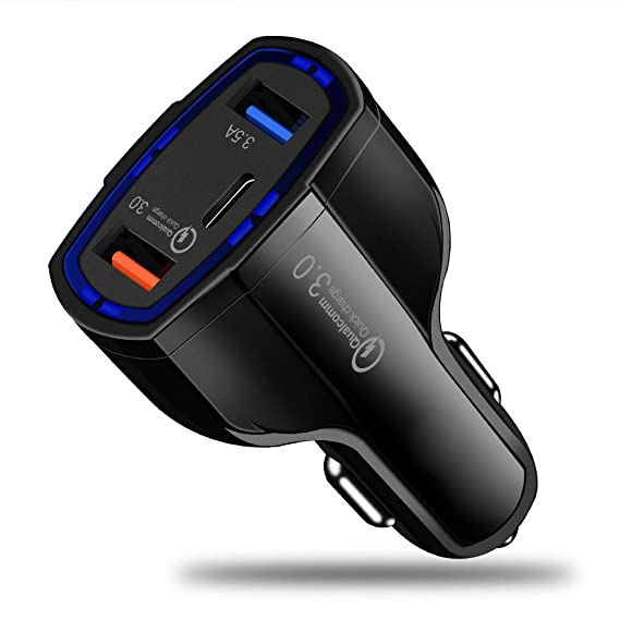 Amazon.com: Quick Charge 3.0 Car Charger 5V 3.5A QC3.0 Fast ...
