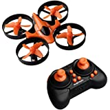 Phetron Mini RC Quadcopter Drone 2.4Ghz 4 Channels 6-Axis Gyro Anti-Crush UFO Helicopter with BONUS Battery - Brilliant LED Lights (Orange)