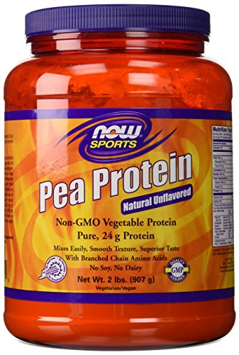 100% Pure Pea Protein Now Foods Powder