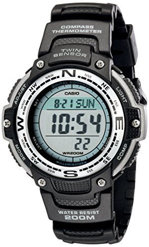 Casio Men's SGW100-1V Twin Sensor Digital Black Watch (Casio Alarm Watch)