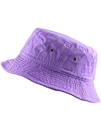 300N Unisex 100% Cotton Packable Summer Travel Bucket Beach Sun Hat