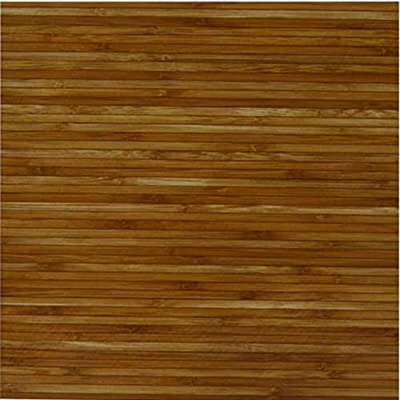 NEW Wood Bamboo Vinyl Tile 40 Pc Adhesive Kitchen Flooring - Actual 12'' x 12''