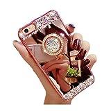 e9b2e18a4c2 iPhone 7 Caso Diamante, shinetop Lujo 3d Bling Glitter Crystal Rhinestone  Cover Soft TPU –