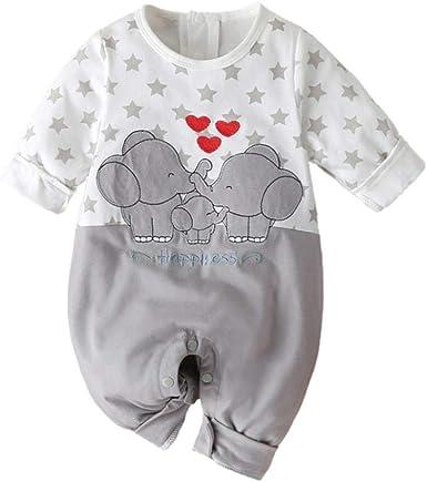 SHOBDW Body Bebé Niño Recién Nacido Trajes De Mameluco Care Pijama Bebé Niño Verano Jumpsuit Bebé Dibujos Animados Impresión de la Estrella Mono para ...