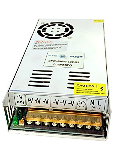 AC to DC 12V 33.4A Universal Regulated Switching Power Supply 400W for CCTV, Radio, Computer Project