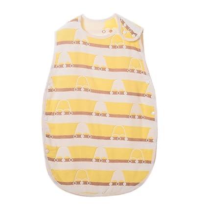 Saco de dormir de algodón suave con estampado de dibujos animados para bebés y niños