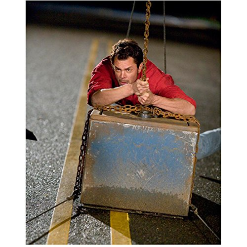 Johnny Knoxville 8 inch by 10 inch PHOTOGRAPH Jackass 3D Jackass: The Movie Jackass Number Two from Chest Up Behind Metal Box - From Jackass Johnny