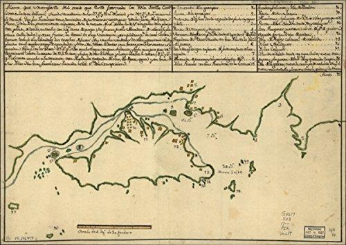 Map: 1700 Plano que manifiesta del modo que csta formada la Ysla Santa Cathalina en la costa del Brasil situada su mediama en los 27 gos. y 72 ms. de - Coupons Online Costa