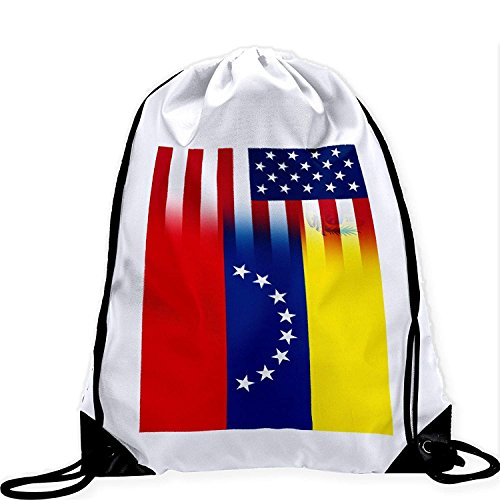 Large Drawstring Bag with Flag of Venezuela - Many Designs - Long lasting vibrant image by crystars