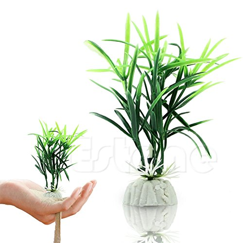 - Itemap Fish Tank Short Paragraph Lucky Bamboo Artificial Water Plants Ornament