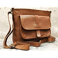 PASCADO Vintage Leather purse womens shoulder crossbody tote travel satchel ladies handbag genuine for women