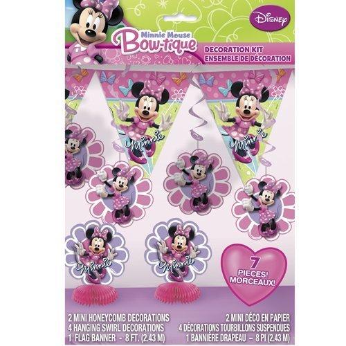 Minnie Mouse Bow-tique Decoration Kit - 7 Pcs Unique -