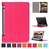 Yoga Tab 3 8 Flip Cover,Lenovo Yoga Tab3 8 Back Case,Lenovo Tab 3 8.0inch Tablet Cover,Leather Stand Case Folio Cover Case for YOGA Tab 3 8-Inch Tablet -Rose