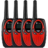 YETION Walkie Talkies 4 Pack 2 Way Radio Long Range Distance Max 5KM Two Radio 22 Channel UHF Built-in Microphone Walky Talky For Kids