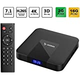 2018 Latest ACEMAX Amlogic Quad Core Android 7.1 TV Box 64Bit Processor 3D 4K H.265 The Future Television [2GB/16GB] Makes Your TV a Smart TV