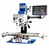 Mophorn Milling Drilling Machine 850W 2250RPM Mill Working Table Size 19.7x7.1 Inch Micro Milling Machine with Variable Speed 3 Axis Dro Installed for Milling and Drilling (850W 3 AXIS)