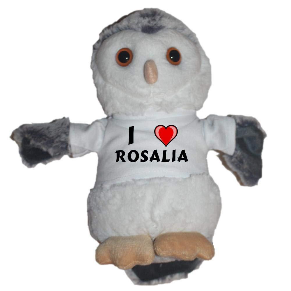 Shopzeus Búho de peluche con Amo Rosalia en la camiseta (nombre de ...