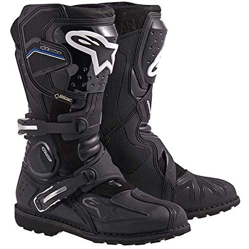 Alpinestars Toucan Gore-Tex Men's Weatherproof Motorcycle Touring Boots (Black, US Size 9)