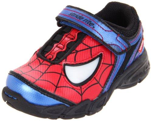 Stride Rite Spider-Man Light-Up Sneaker (Toddler/Little Kid),Red/Blue,7.5 M US Toddler -