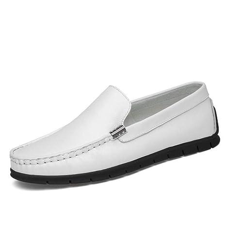 YaXuan Zapatos Perezosos para Hombres Cuero Primavera/Otoño Comfort Mocasines y Slip-Ons Zapatos