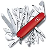 Victorinox Swiss Army Multi-Tool, SwissChamp Pocket Knife, Red