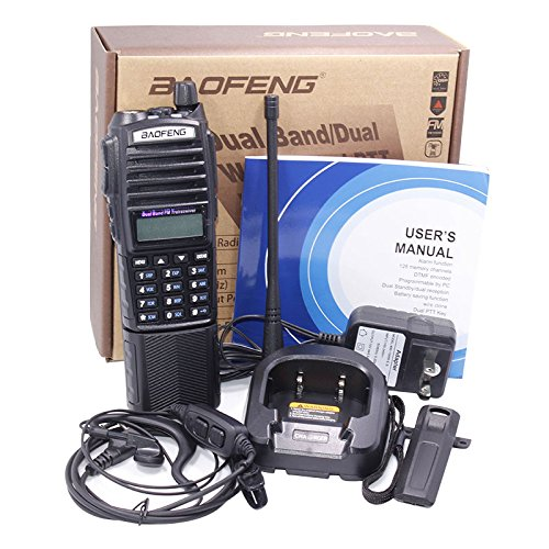 Baofeng UV-82 8W High Power 3800mAh Extended Battery Two Way Radio Dual Band Radio 136-174mhz&400-520mhz + 1 USB Programming Cable + 1 Car Charger Cable + 1 Speaker by BaoFeng (Image #5)