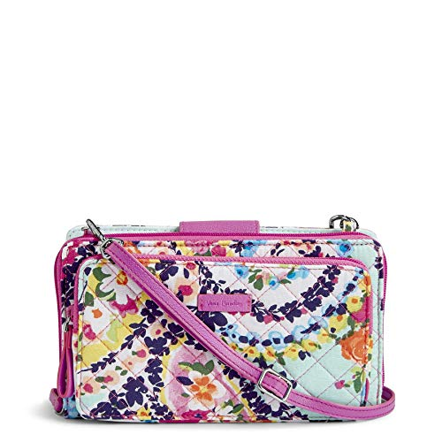 Cover Paisley Checkbook - Vera Bradley Iconic Deluxe All Together Crossbody, Signature Cotton, Wildflower Pais