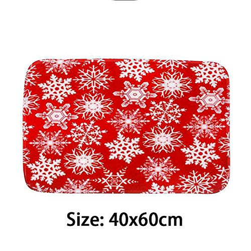 Noon-Sunshine decorative-plaques Merry Christmas Door Mat Santa Claus Flannel Outdoor Carpet Christmas Decorations for Home Xmas Party Favors Year,Style 6