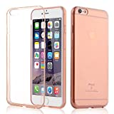 iPhone 6 Plus Case Rose Gold, ENDLER Apple iPhone 6S Plus Clear Case Shock-Absorption Bumper and Anti-Scratch Clear Back Flexible TPU Cover for iPhone 6s Plus / iPhone 6 Plus (Rose Crystal)