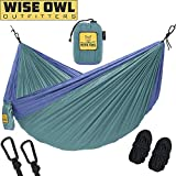 wwww Hammock for Camping - Single & Double Hammocks Gear For The Outdoors Backpacking Survival or Travel-DO Sea Green & Pacific Blue- DoubleOwl