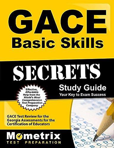 gace basic skills secrets study guide gace test review for the rh amazon com gace basic skills study guide pdf Basic Map Skills Worksheets