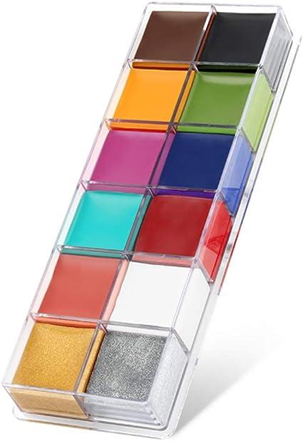 Cara Cuerpo Pintura Imagic marca Flash 12 colores caso Halloween Fancy Dress – Pintura al óleo arte belleza.: Amazon.es: Belleza