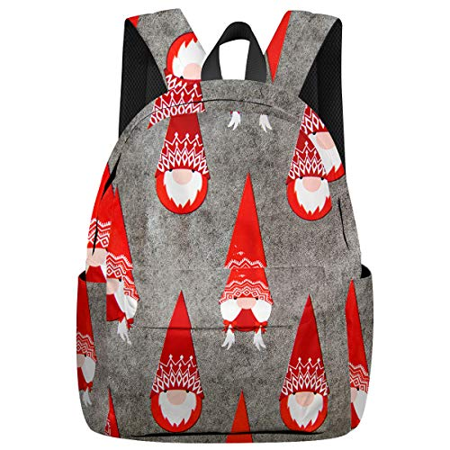 Arts Language Leisure Backpack School Book Bag for Teens Girls/Kids Mottled Background Santa Claus Printed Laptop Bag Women Casual Daypacks for Travel