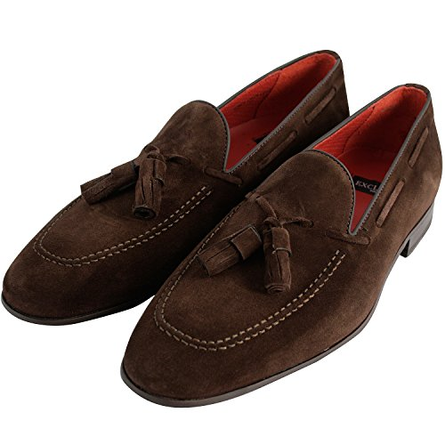 Exclusif Paris Harry 42, Mocassins Nubuck Marron Taille 42