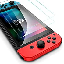 ESR Nintendo Switch フィルム ニンテンドースイッチ 液晶保護フィルム HDクリア 3倍強化 最大5KGの力に抵抗 傷つき防止 プレミアム強化ガラス スクリーンプロテクター [2枚入]