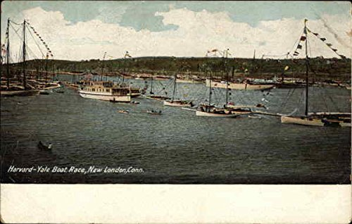 Harvard-Yale Boat Race New London, Connecticut Original Vintage Postcard