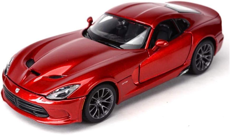 ZXAZBHD BZrybh Escala 1:24 Dodge Viper Model Car, Modelo de Auto Diecast Model Toy Ornaments, 18.5x8x5cm Decoraciones, Regalos (Color : Red)