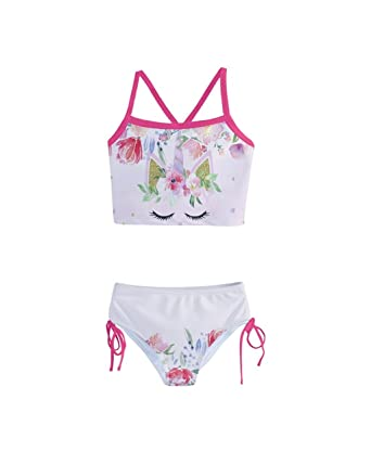 806eb1bf586b4 PattyCandy Little Girls  Elegant Sleeping Unicorn Kids Tankini Swimsuit - 2