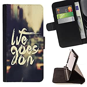 - Life Goes On/ Personalizada del estilo del dise???¡¯???¡Ào de la PU Caso de encargo del cuero del tir???¡¯????n del s - Cao - For Samsung Galaxy S3 III