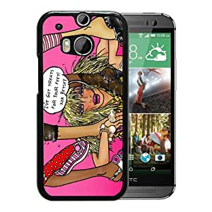Unique And Fashionable Designed Cover Case For HTC ONE M8 With Betsey Johnson 12 Black Phone Case