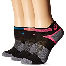 ASICS Womens Quick Lyte Cushion Single Tab Running Socks,Pack of 3