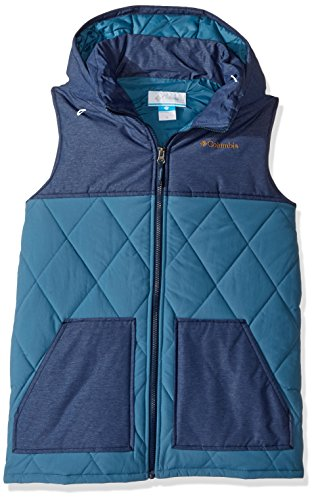 - Columbia Boys' Little Lookout Cabin Vest, Blue Heron, Coll Navy Heather, X-Small