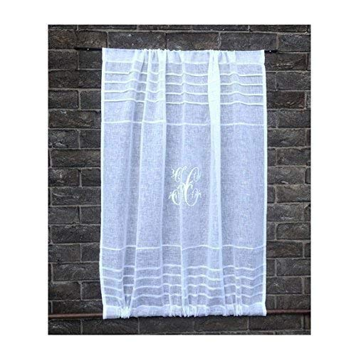 Used, Custom Sidelight Sheer Linen Door Curtain Gauze Cabinet for sale  Delivered anywhere in USA